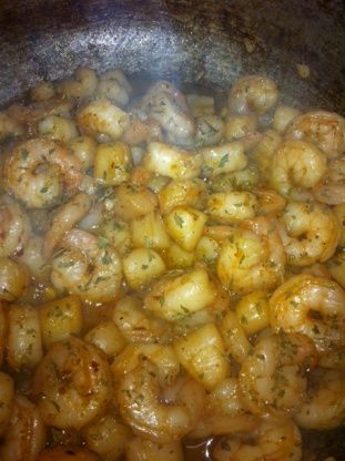 This elegant dish brings out the flavors of both the shrimp and the scallops. I recommend that this is served over pasta. You can get both the Shrimp and Scallops from www.BigEasySeafood.com.