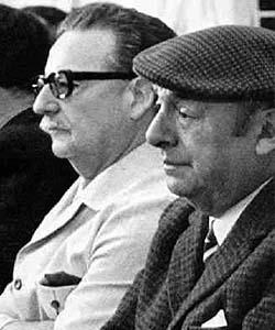 Pablo Neruda  junto a Salvador Allende