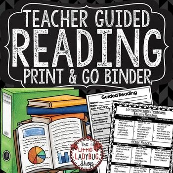 Guided Reading Binder is a perfect toolkit for you to collect data, and to help with Guided Reading and Literacy Groups. It is a binder that every teacher needs to get started with small groups.  Guided Reading Binder Includes:19 Guided Reading Charts/ Monitoring Data Charts to use to monitor students weekly, daily, or when meeting in groups.Strategies for Teachers and Students to use before Reading/ During Reading/After ReadingRubrics for Grading Guided ReadingCharts for Display for…