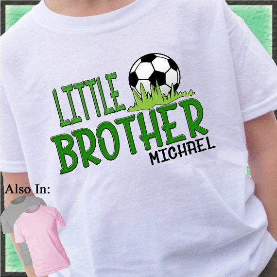 Soccer Little Brother Shirt Personalized by CustomTeesForTots
