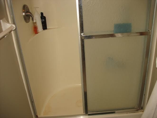 The shower before remodeling.