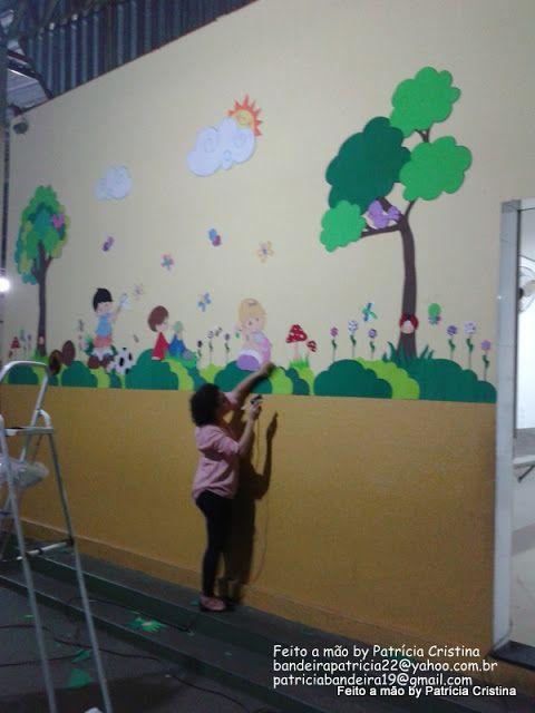 Feito a mão by Patricia Cristina Decoração Hall escolar  sala de aula  Dec -> Decoracao Para Banheiro De Escola Em Eva