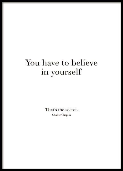 Glaube an dich selbst, Poster in der Gruppe Poster / Poster mit Text bei Desenio AB (8504) – #AB #bei #der #Desenio #Dich #Glaube #Gruppe #mit #plakat…