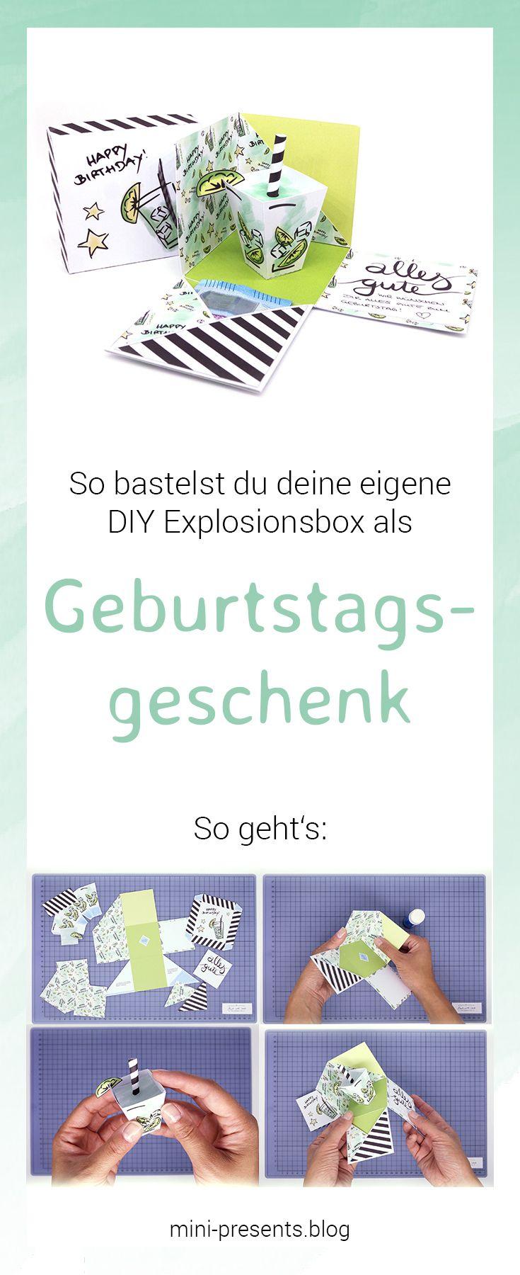 Geschenkbox, Geldgeschenk zum Geburtstag als DIY Bastelanleitung ...