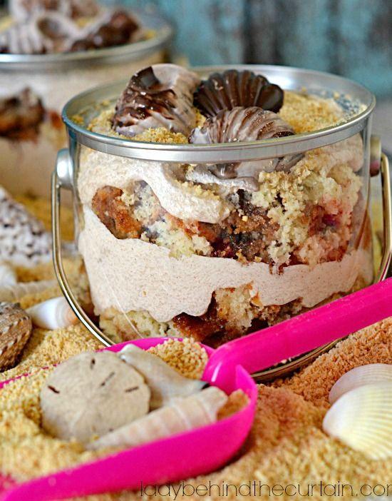 Beach Sand Bucket Pudding Cake