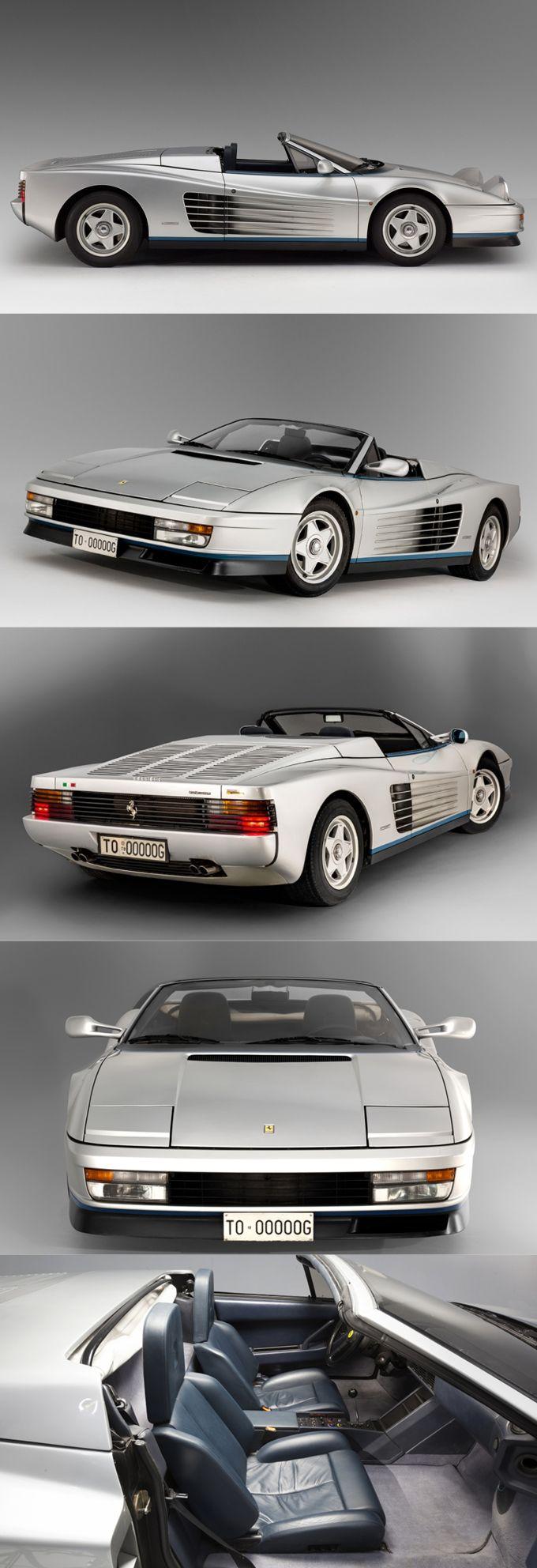 1986 Ferrari Testarossa Spider Agnelli / s/n 62897 / 1pc / Italy / silver blue ...repinned für Gewinner!  - jetzt gratis Erfolgsratgeber sichern www.ratsucher.de