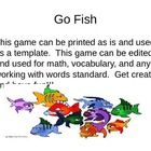 This game can be used as is or altered for any academic area.  it is played just like the original Go Fish and has matching fish so students can ch...