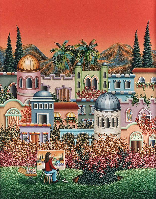 Pintando en Jerusalem