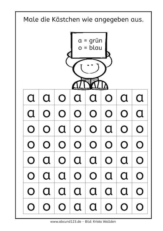 Buchstaben und Ziffern, Unterschied, b-d, a-o, u-n, 2-5, 9-6, 1-7 #freebie