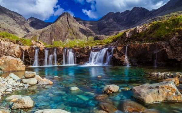 Beautiful Fairy Pools in Scotland, need to get back to Scotland one day and go out to the Isle of Skye