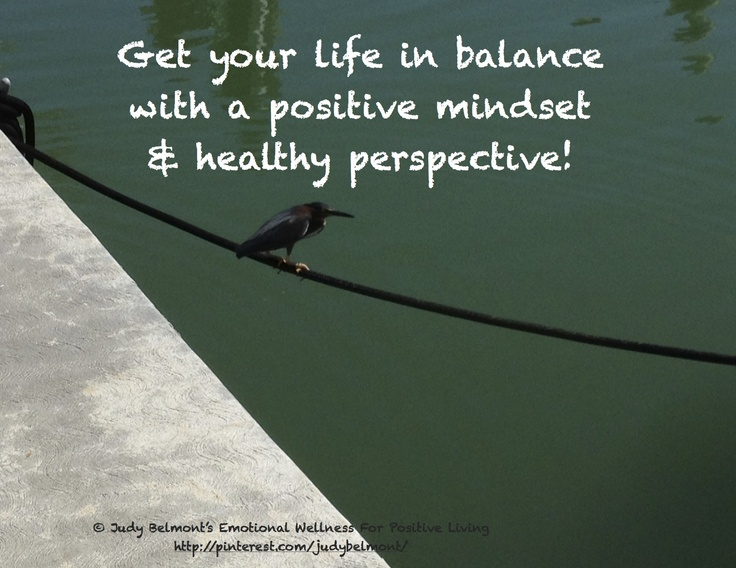 Get balance in your life by balancing your head!
