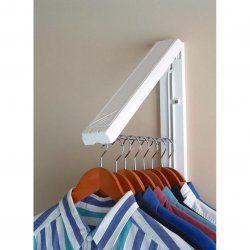 Arrowhanger White Instahanger - Folding Clothes Hanger by Arrow Hanger stacksandstacks.com