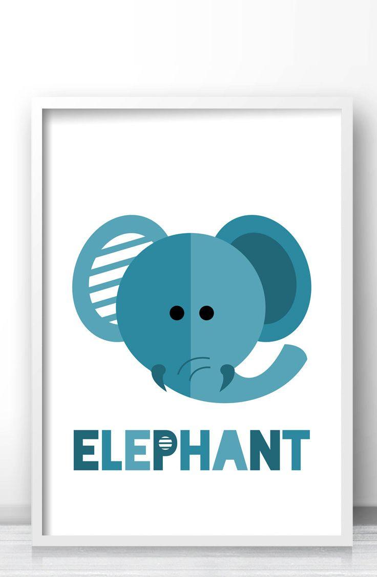 best nursery and kids wall art printsposters images on  - elephant nursery print animal nursery print kids wall art print safarinursery wall art printable kids art blue elephant kids print