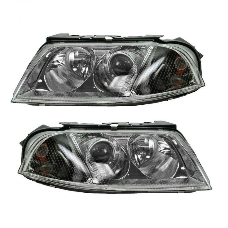 Halogen Headlights Headlamps Left & Right Pair Set NEW for 01-05 VW Passat #BrandNewAftermarketReplacement