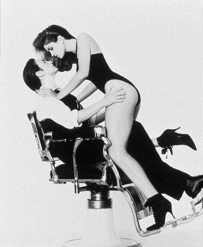 kd lang and Cindy Crawford by Herb Ritts, 1993