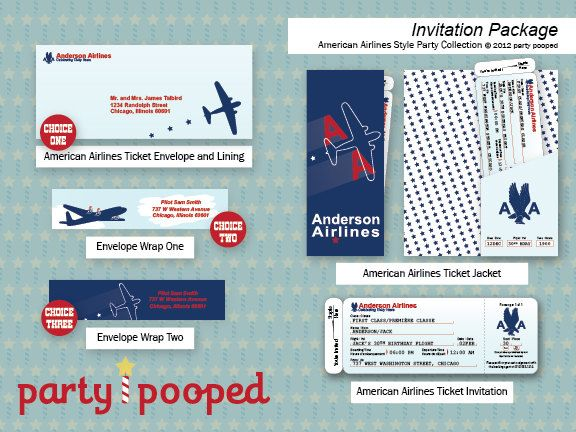 The 23 best images about BIRTHDAY THEME Pilot on Pinterest 2nd - airline ticket invitation