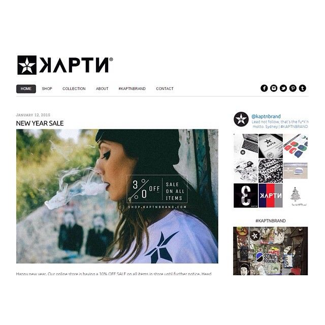 Website recoded, improved and updated with new features. Stay up to date with news about the brand and head to our online store for 30% OFF all items. You can now hashtag #KAPTNBRAND to be featured on our website. Thanks you for your continued support. #KAPTN #leadnotfollow #motto #website #news #onlinestore #shop #sale #streetwear #clothing #clothingbrand #apparel #brand #mensfashion (at kaptnbrand.com)