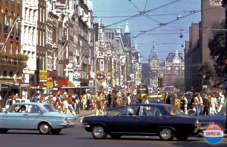 Damrak Amsterdam (jaartal: 1970 tot 1980) - Foto's SERC