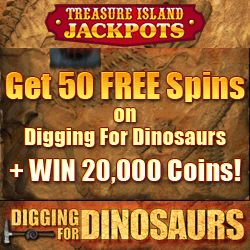Treasure Island Jackpots 50 free spins