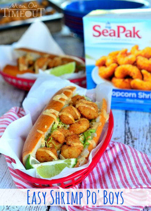 Make tonight special with Easy Shrimp Po' Boy Sandwiches! | MomOnTimeout.com #MomVictory #sponsored