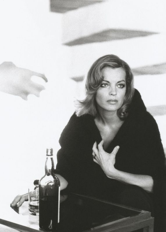Romy Schneider on the set of Les innocents aux mains sales directed by Claude Chabrol, 1975. Photo by Giancarlo Botti