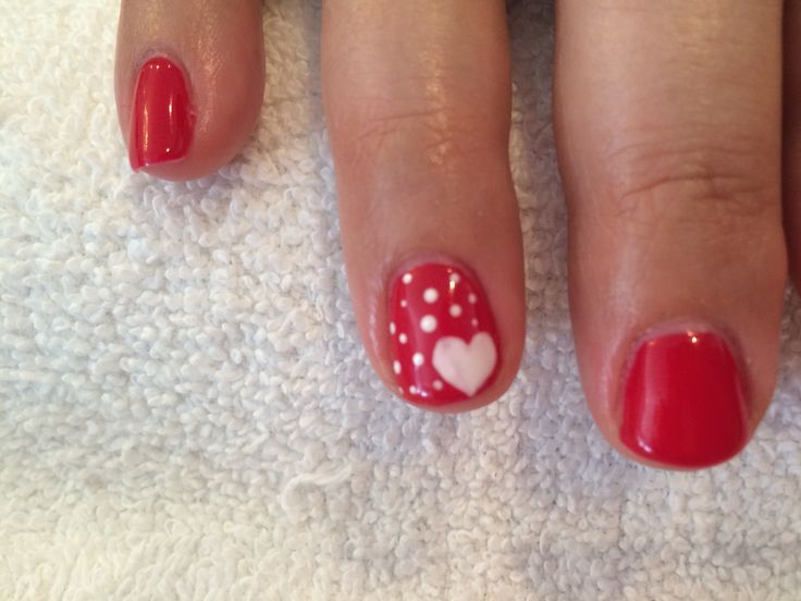 Shellac Valentines Day Nails! Done by Jayme