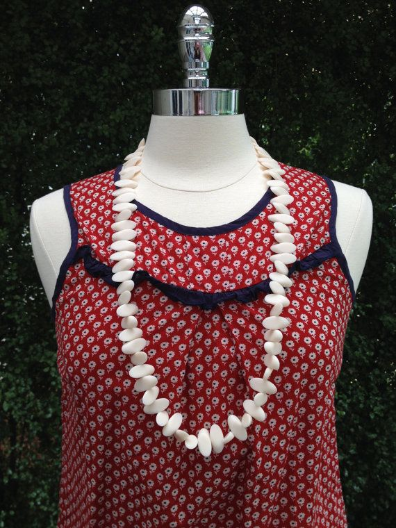 Daisy Resin Bead Matte finish Statement Necklace by scooterbeads