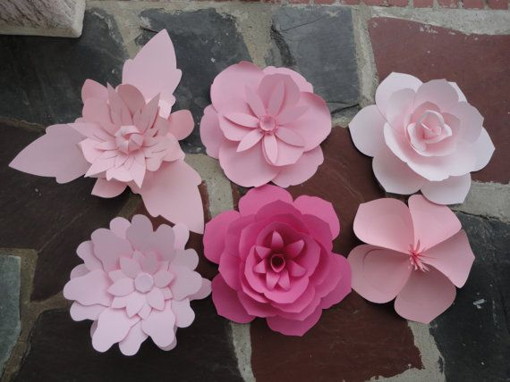 Large Pink Paper Flowers  Rose Extra Large Flower by PoshStudios, $150.00