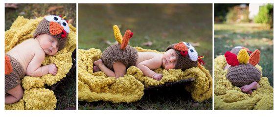 Pannolino e tacchino cappello coprire Set di LittlestYarnShop