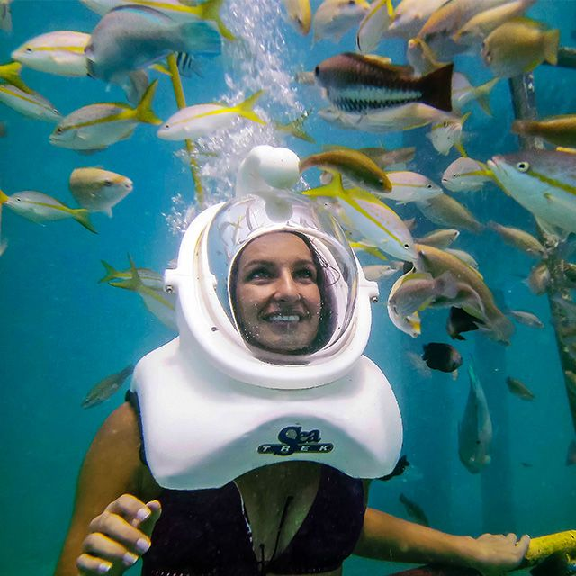 Sea Trek underwater helmet walk at De Palm Island Aruba