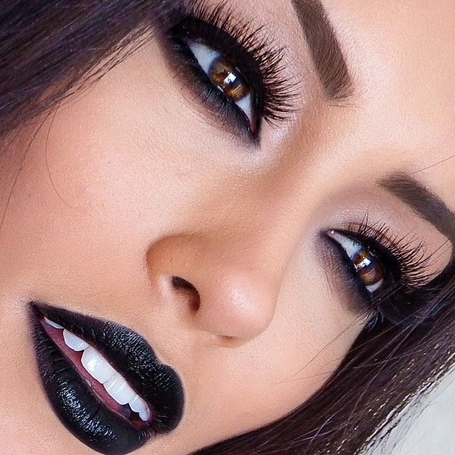 Lipstick makes lips black