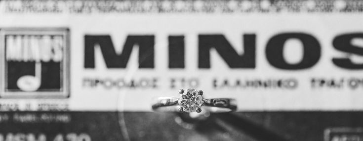 Creative wedding ring photo