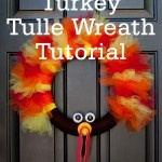 Thom The Turkey Tulle wreath Tutorial! Gobble gobble!