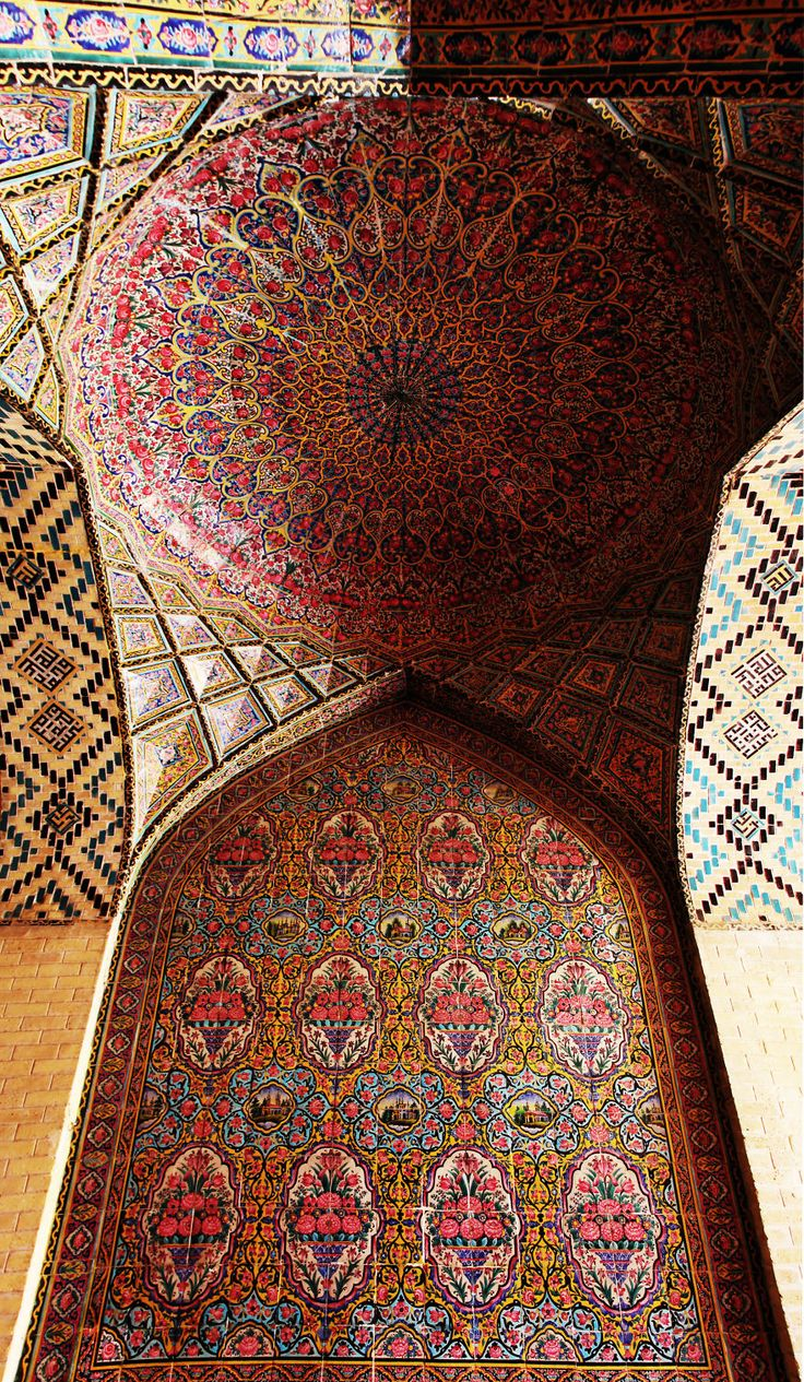 Nasir Al-Mulk Mosque, Shiraz, Iran http://www.designhome.ae/category/architecture_design/