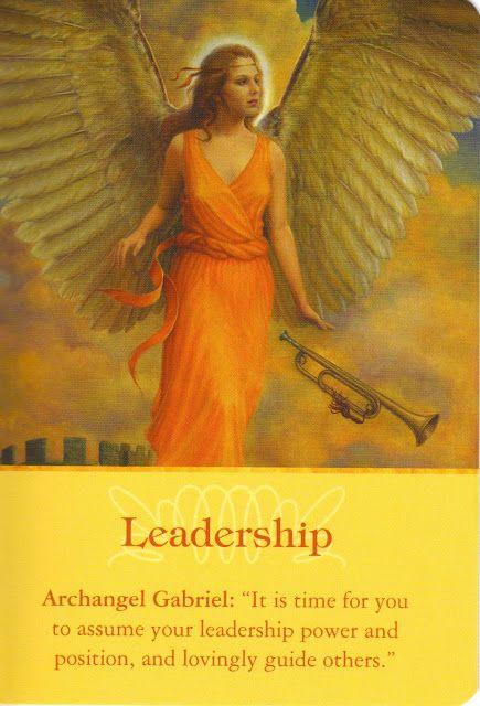 Got Angel?                                                       : Archangel Oracle Card for 2-10-15 Leadership