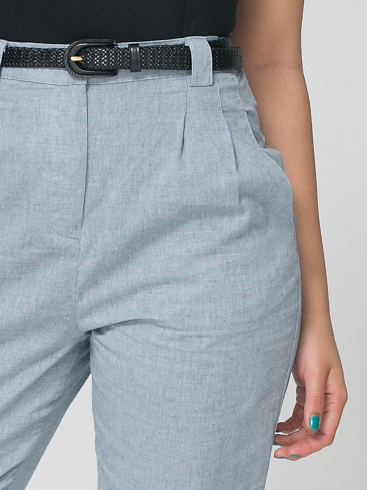 I got that AA chambray pants in sky blue - going to wear it with wooden shoes and red or camel tops