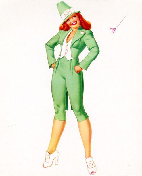George Petty Pin Up Girls: 888 Best Images About Leprechauns & Irish #3 On Pinterest