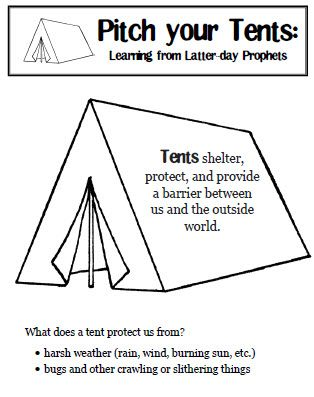 Loved this idea of watching/listening to  conference from tents and talking about King Benjamin. Should have done it when the kids were small.