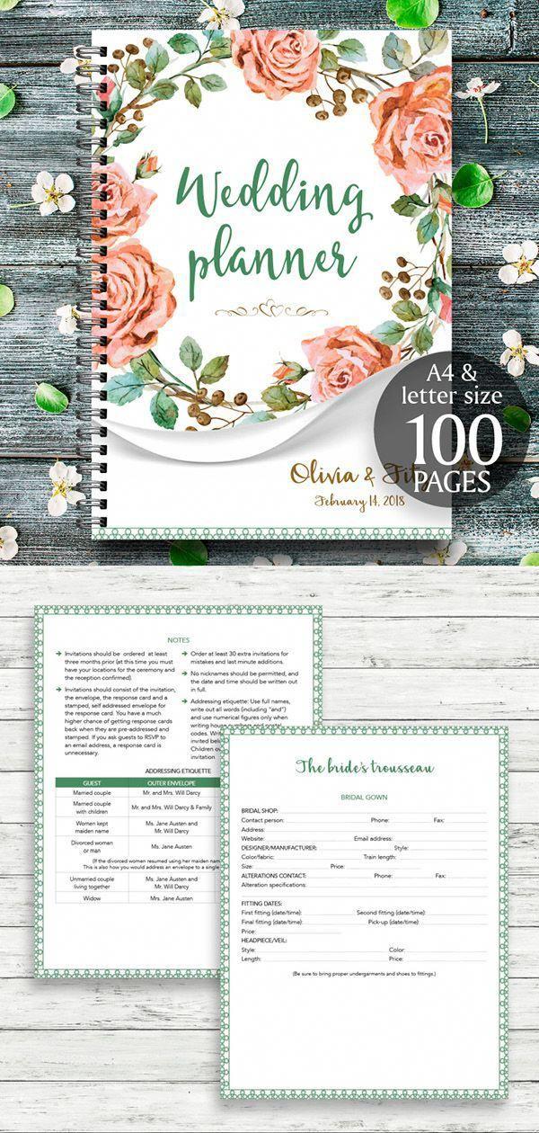 wedding planner wedding binder wedding planner book wedding planner printable wedding binder