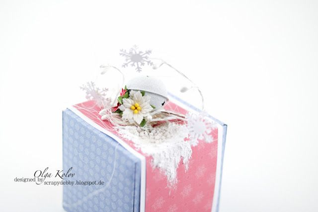 ScrapBerry's: Olga Kolov made a wonderful and adorable clean & simple gift box for Christmas.