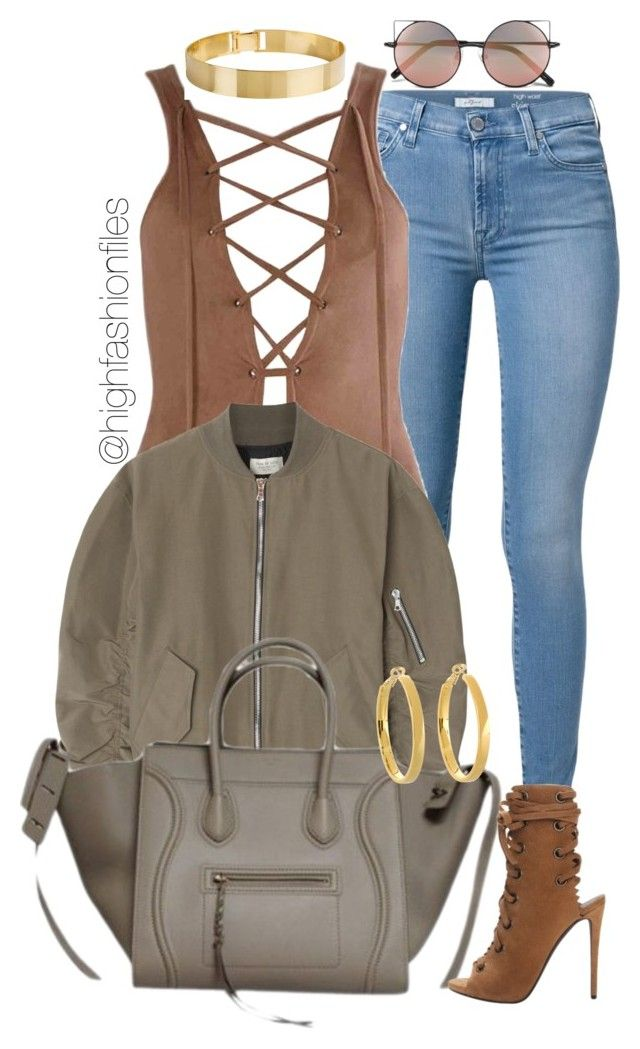 """""""Fall Festival"""" by highfashionfiles ❤ liked on Polyvore featuring 7 For All Mankind, Fear of God, Lele Sadoughi, Linda Farrow and Kate Spade"""