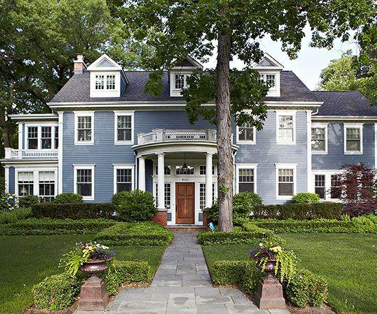 home exterior color ideas blue