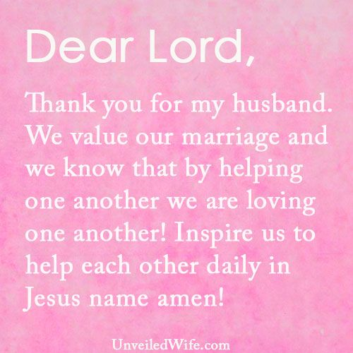 Thankful To Husband Quotes: Prayer Of The Day - Managing Tasks Together