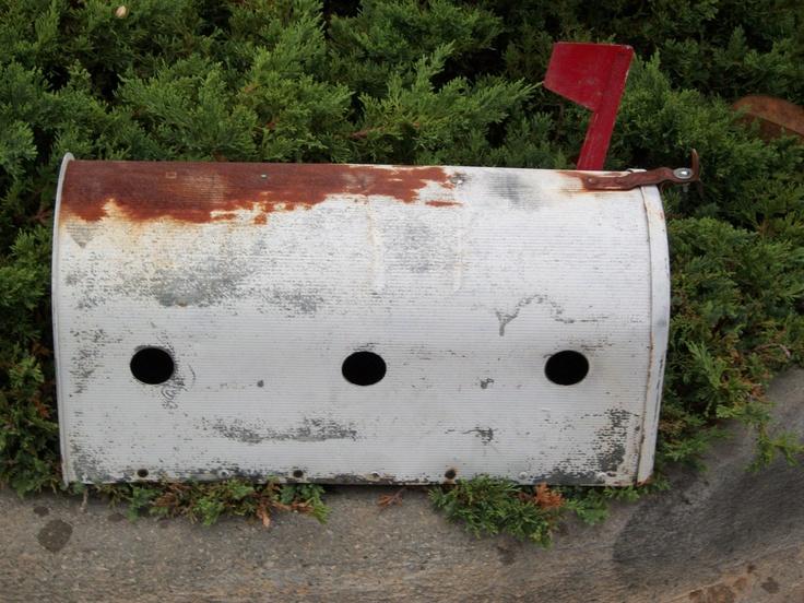 Metal Mailbox 3 Condo Birdhouse. $30.00, via Etsy.