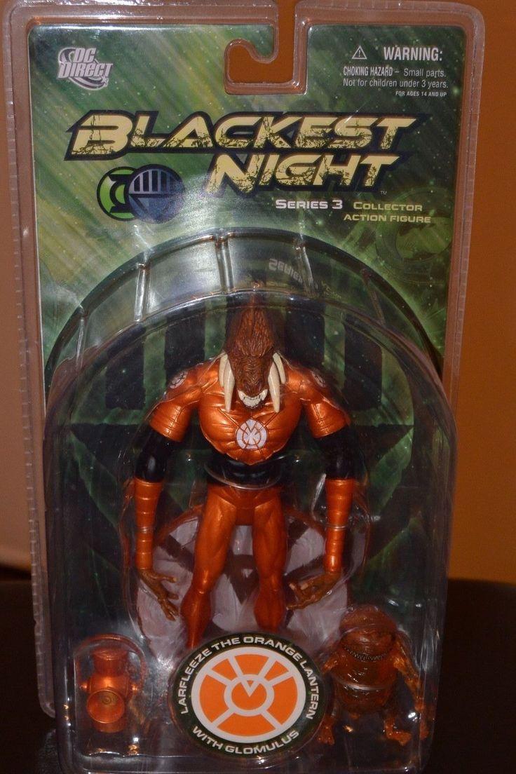 BLACKEST NIGHT LARFLEEZE & GLOMULUS ORANGE LANTERN DC DIRECT *NIP* | eBay