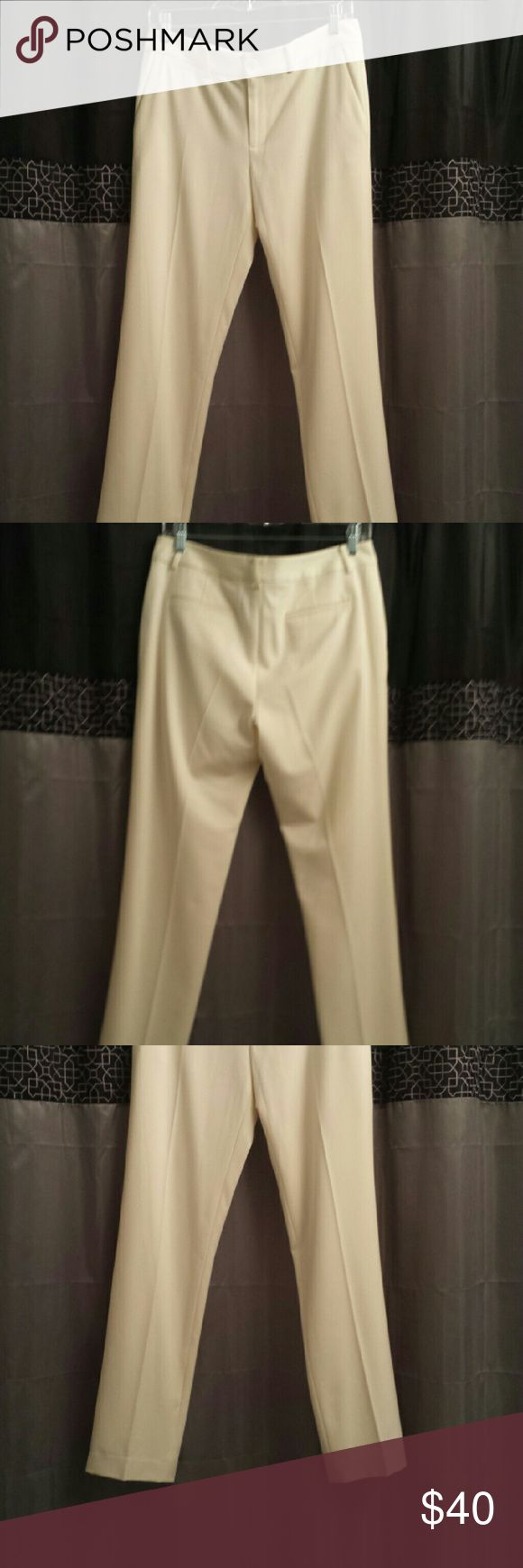 Cream trouser pants Cream colored pants by Ralph Lauren.  Size 6, lined.  Looks nice on. Ralph Lauren Pants Trousers