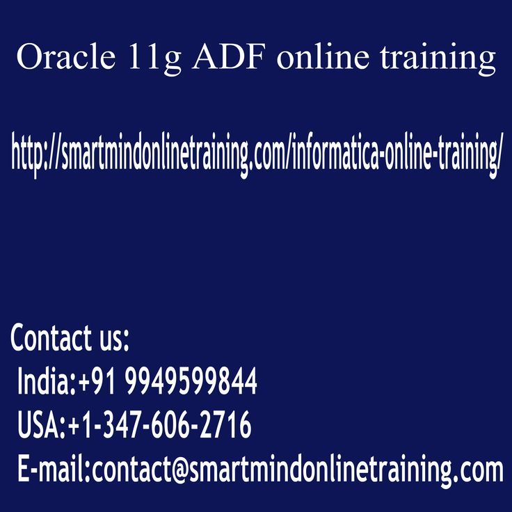 "Oracle 11g ADF online training Oracle's JDeveloper and Application Development Framework (ADF encounters) have become recognized among the sector-leading deployment environments and JAVA development for large scale ventures. Asynchronous JavaScript and XML integration and superior operation are a number of the attributes that are essential Oracle 11g ADF online training. <a href="" http://smartmindonlinetraining.com/oracle-11g-adf-online-training/ ""> Oracle 11g ADF Online training </a>"