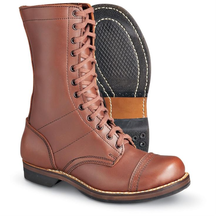Men's Reproduction U.S. WWII Paratrooper Boots, Brown