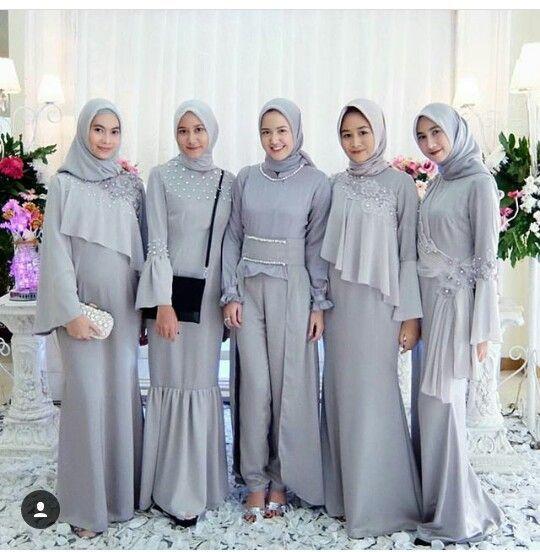 Model Baju Muslim Pesta Modern Brokat Terbaru 2018 Gamis Abaya