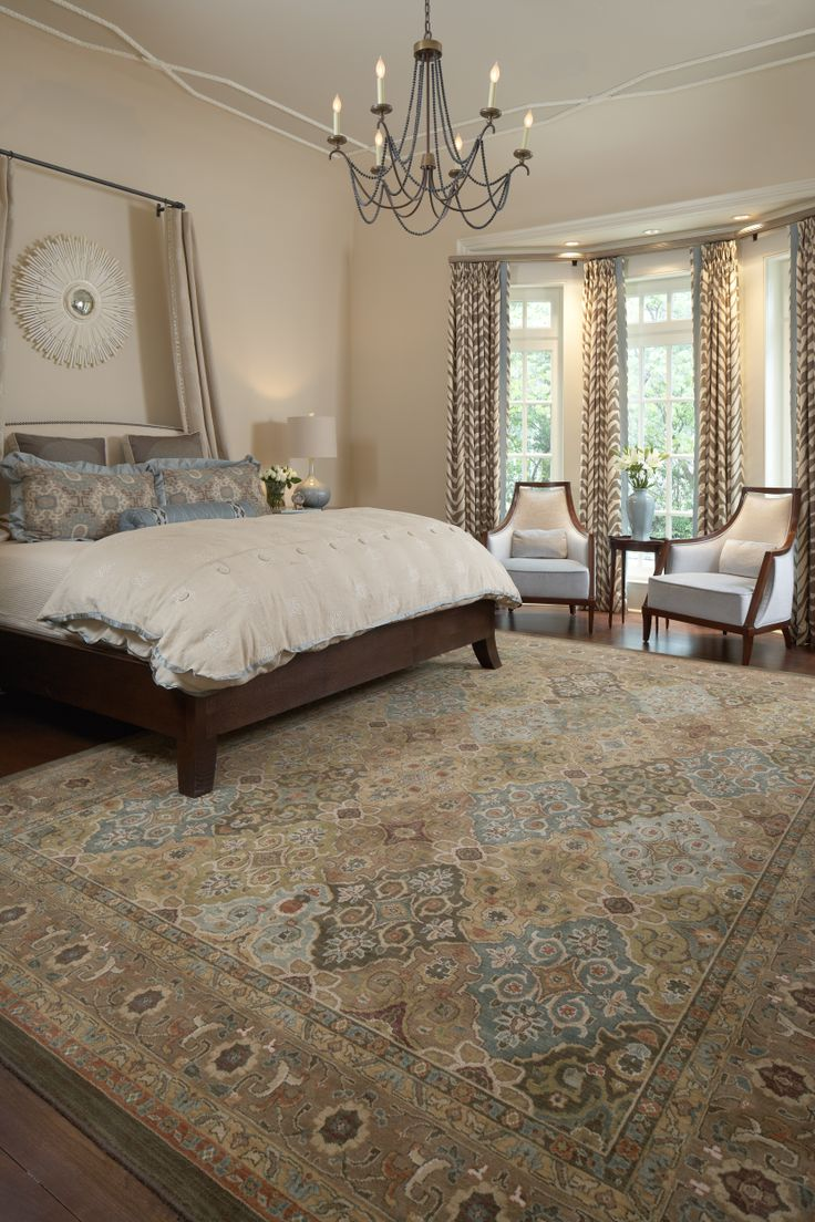 Master Bedroom Rug: Master Bedroom Suite With Area Rug